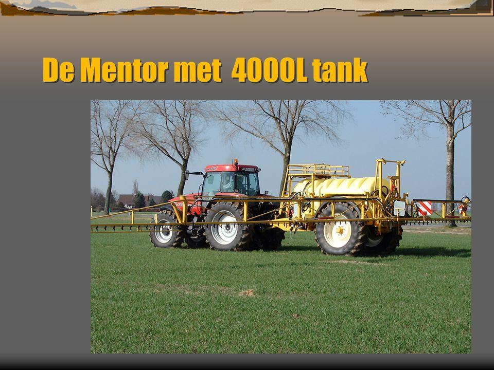 De Mentor met 4000L tank
