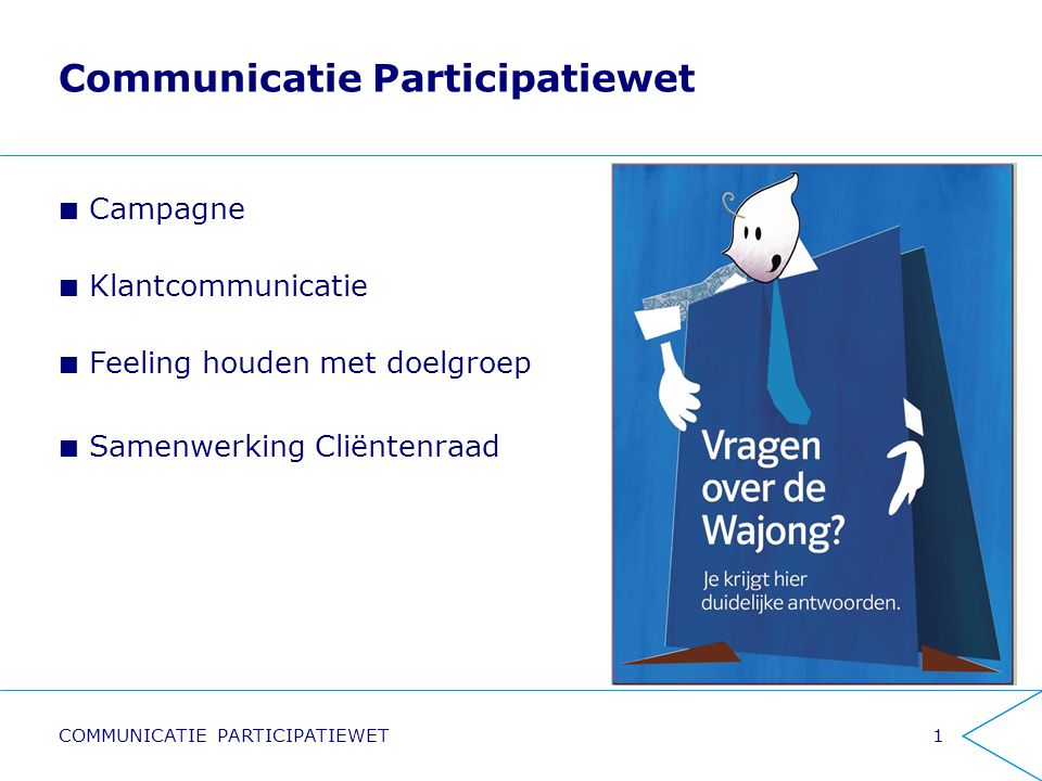 Communicatie Participatiewet