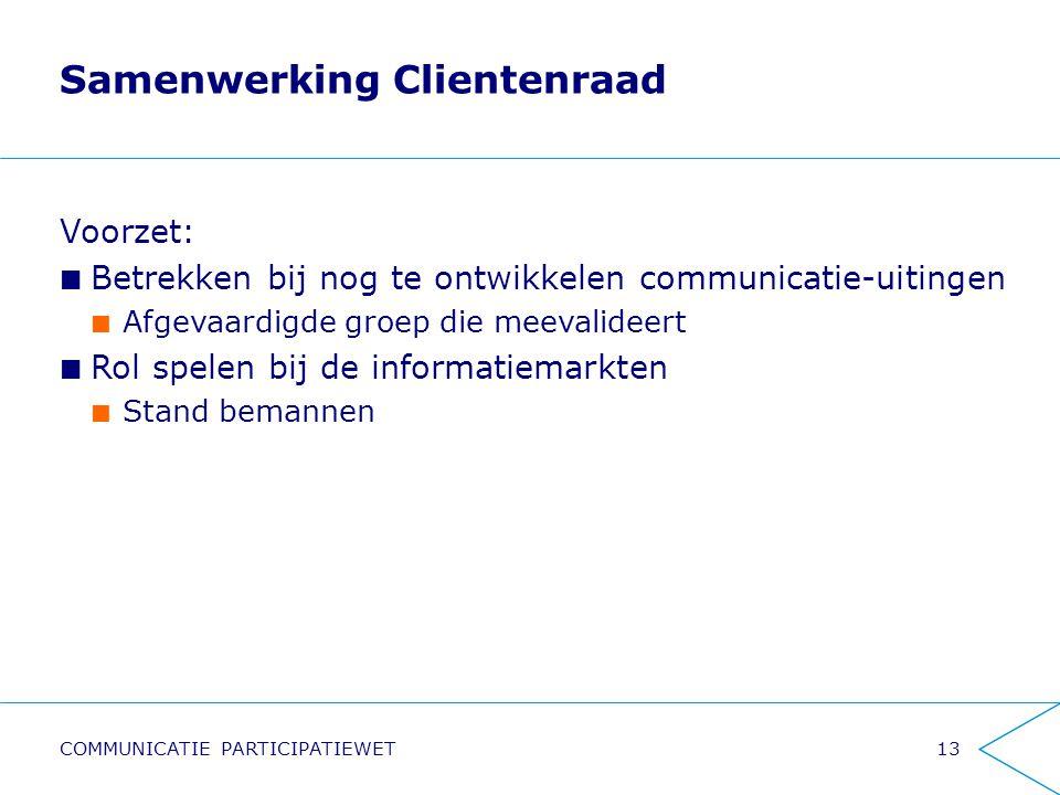 Samenwerking Clientenraad