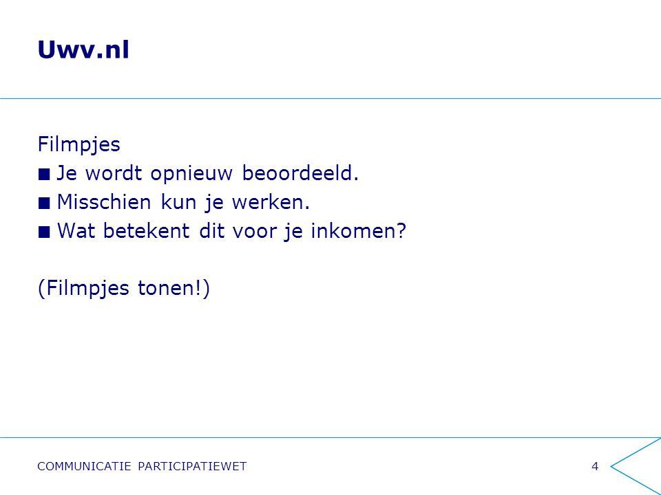 Uwv.nl Filmpjes Je wordt opnieuw beoordeeld. Misschien kun je werken.