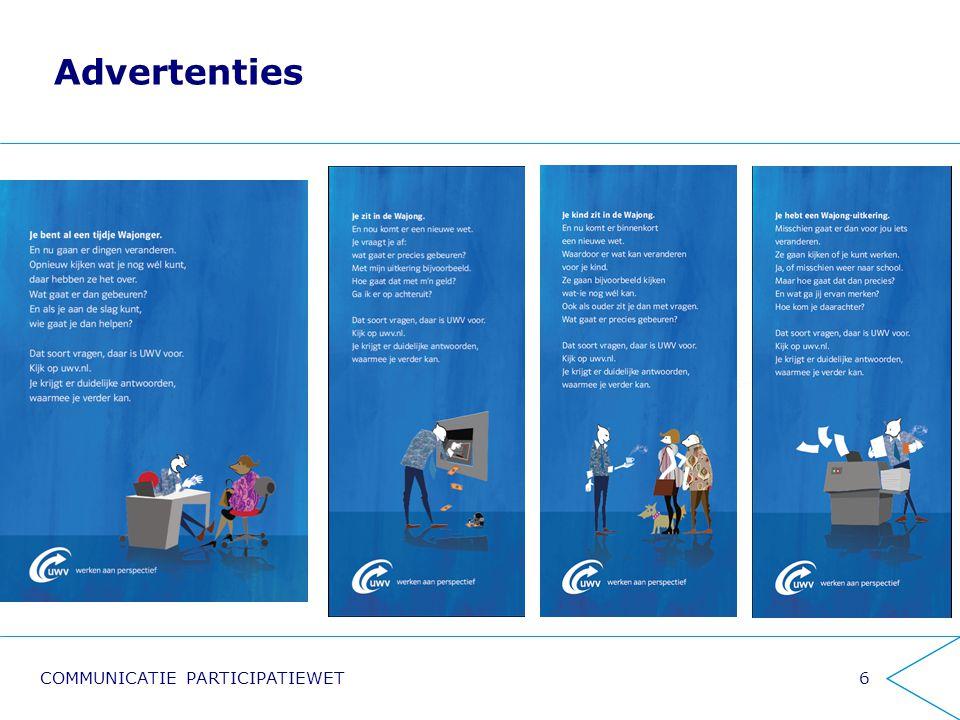 Advertenties Informatie- markt Klanten-contactcener UWV.nl Filmpjes