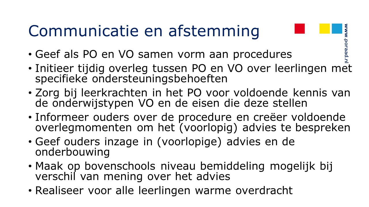 Communicatie en afstemming