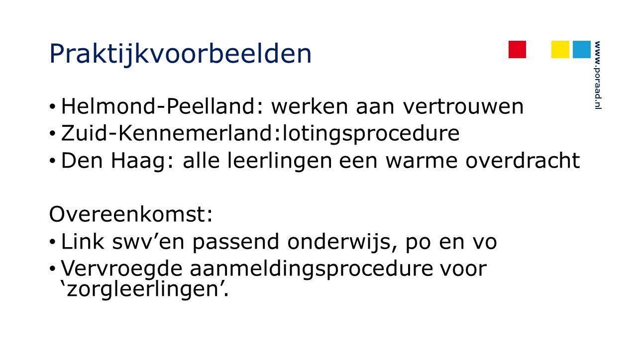 Praktijkvoorbeelden Helmond-Peelland: werken aan vertrouwen