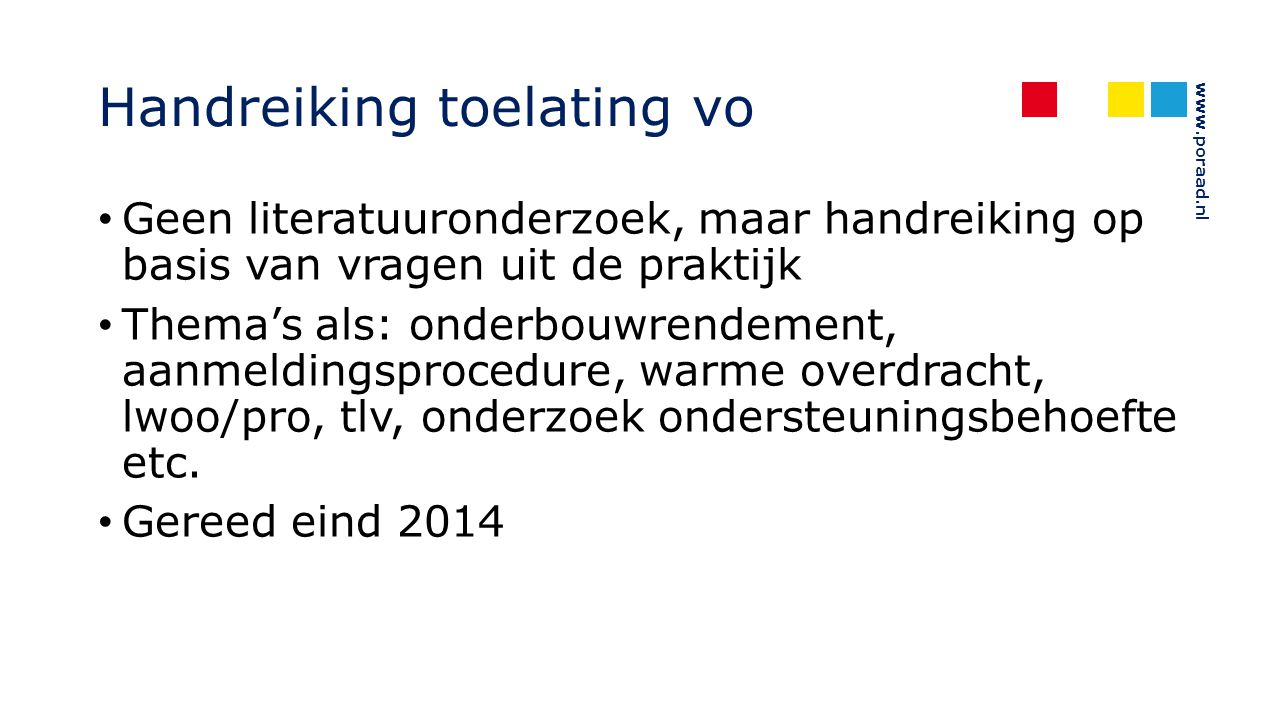Handreiking toelating vo