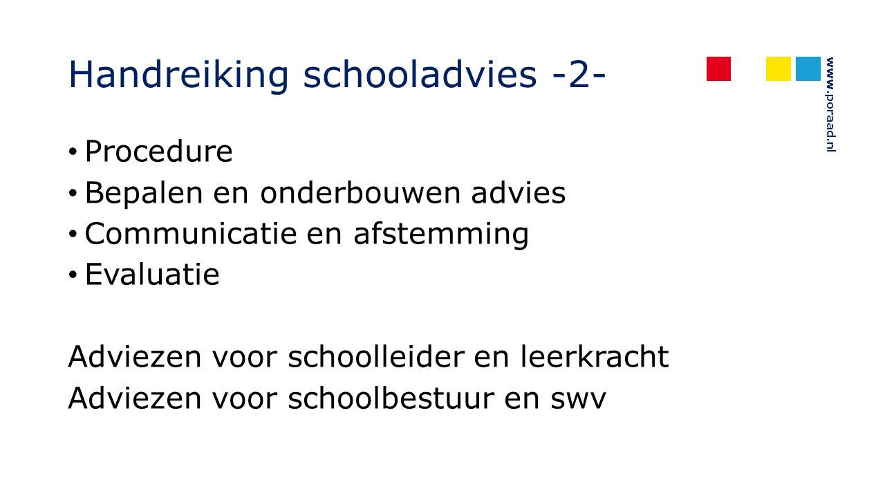 Handreiking schooladvies -2-