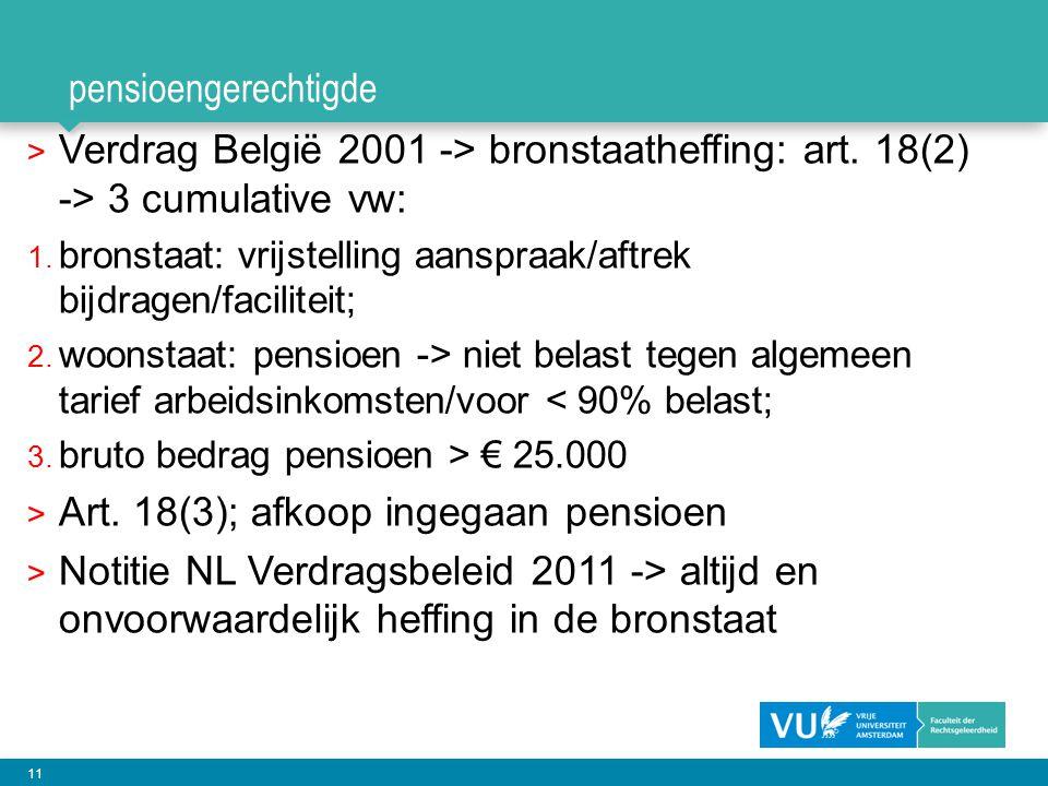 Art. 18(3); afkoop ingegaan pensioen