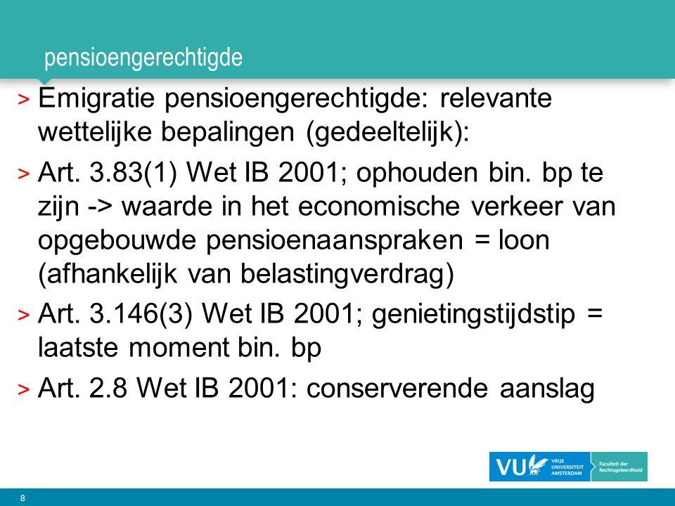 Art. 3.146(3) Wet IB 2001; genietingstijdstip = laatste moment bin. bp