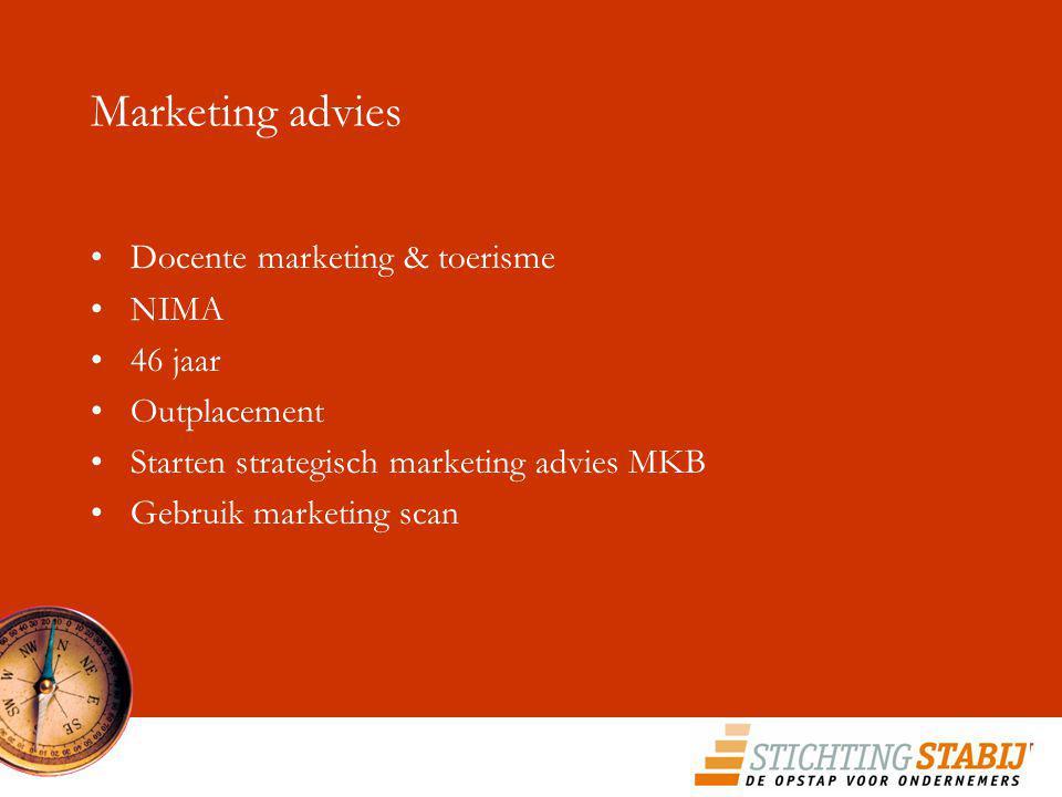 Marketing advies Docente marketing & toerisme NIMA 46 jaar