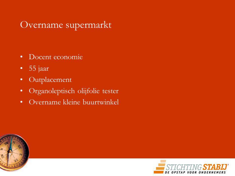 Overname supermarkt Docent economie 55 jaar Outplacement