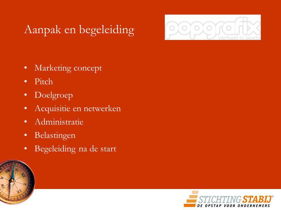 Aanpak en begeleiding Marketing concept Pitch Doelgroep