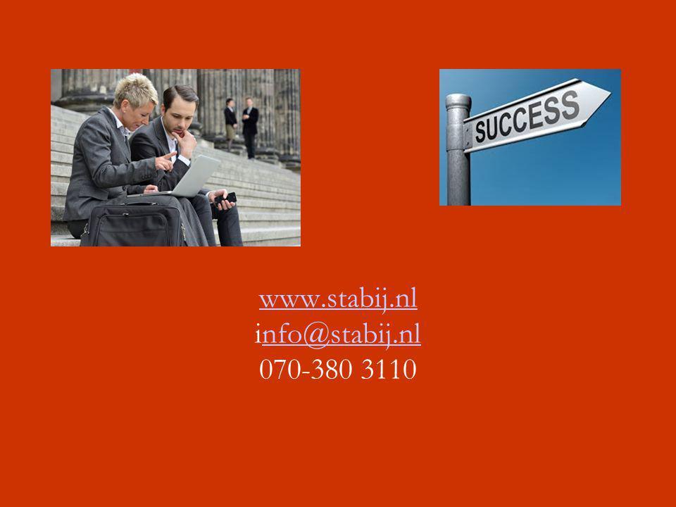 www.stabij.nl info@stabij.nl 070-380 3110
