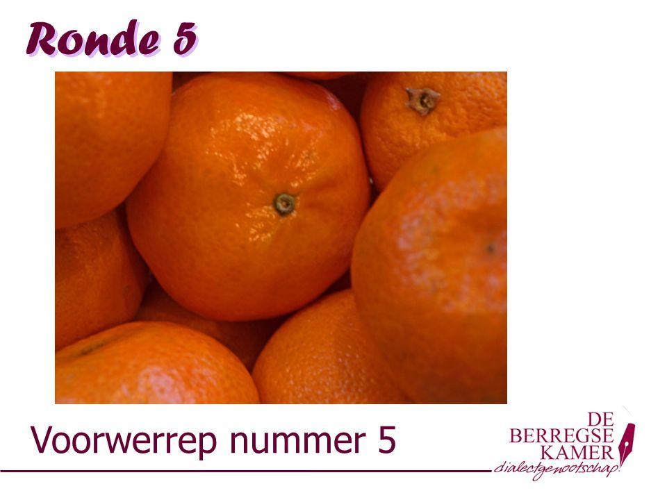 Ronde 5 Voorwerrep nummer 5