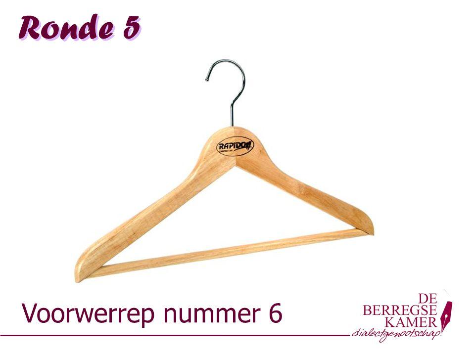 Ronde 5 Voorwerrep nummer 6