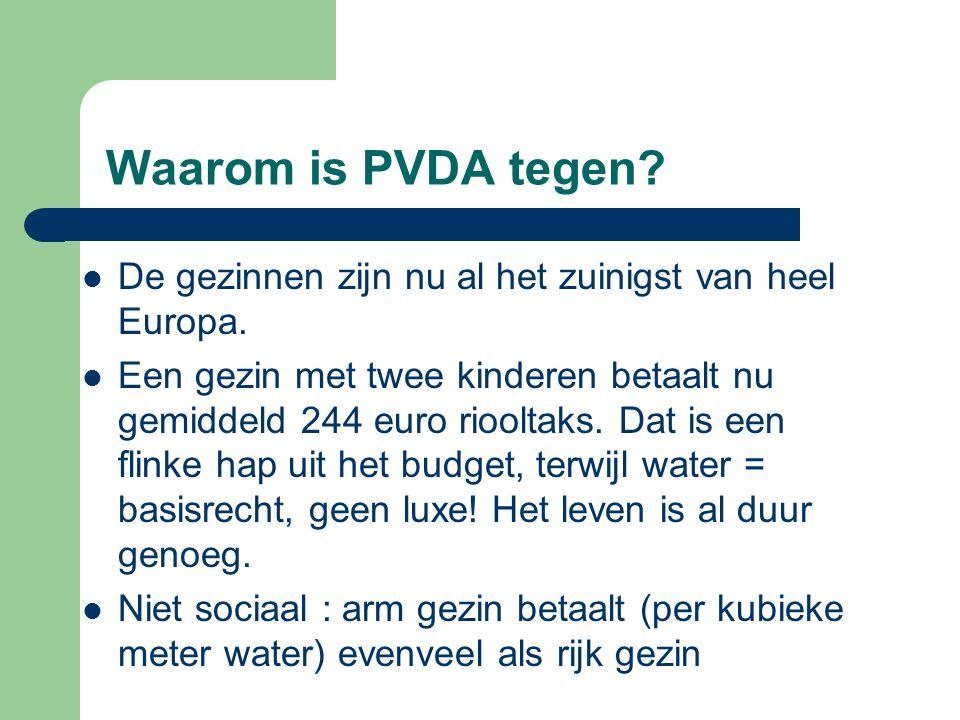 Waarom is PVDA tegen De gezinnen zijn nu al het zuinigst van heel Europa.