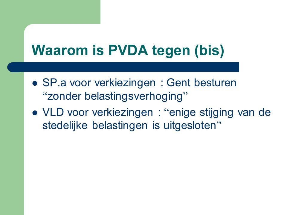 Waarom is PVDA tegen (bis)