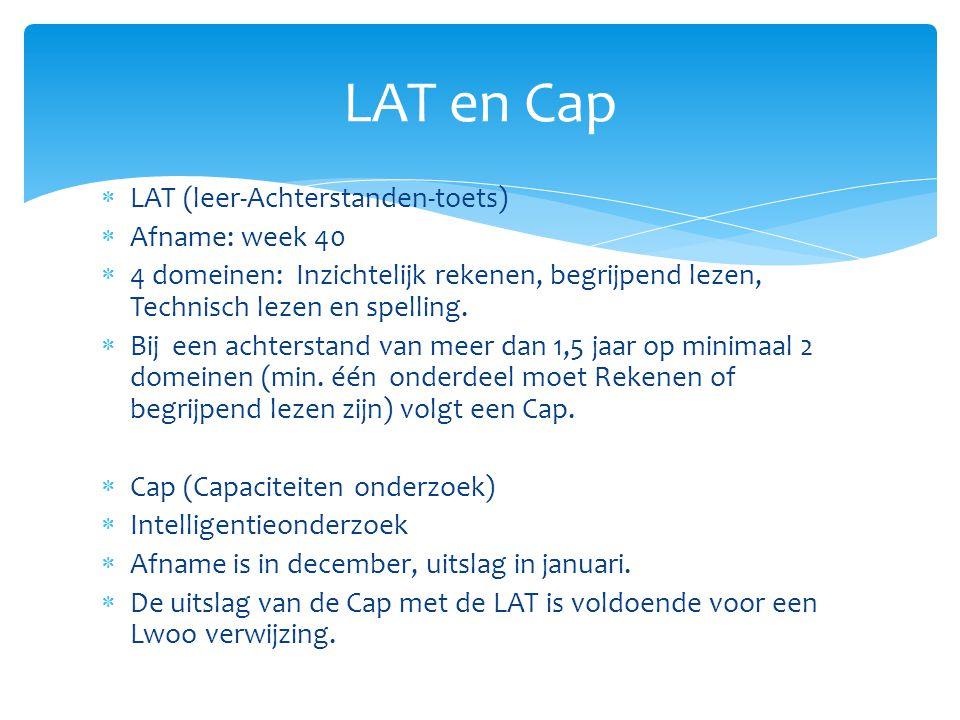 LAT en Cap LAT (leer-Achterstanden-toets) Afname: week 40