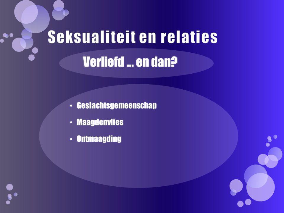 Seksualiteit en relaties