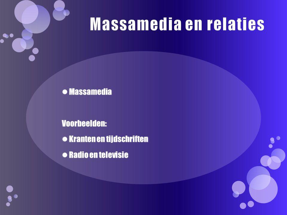 Massamedia en relaties