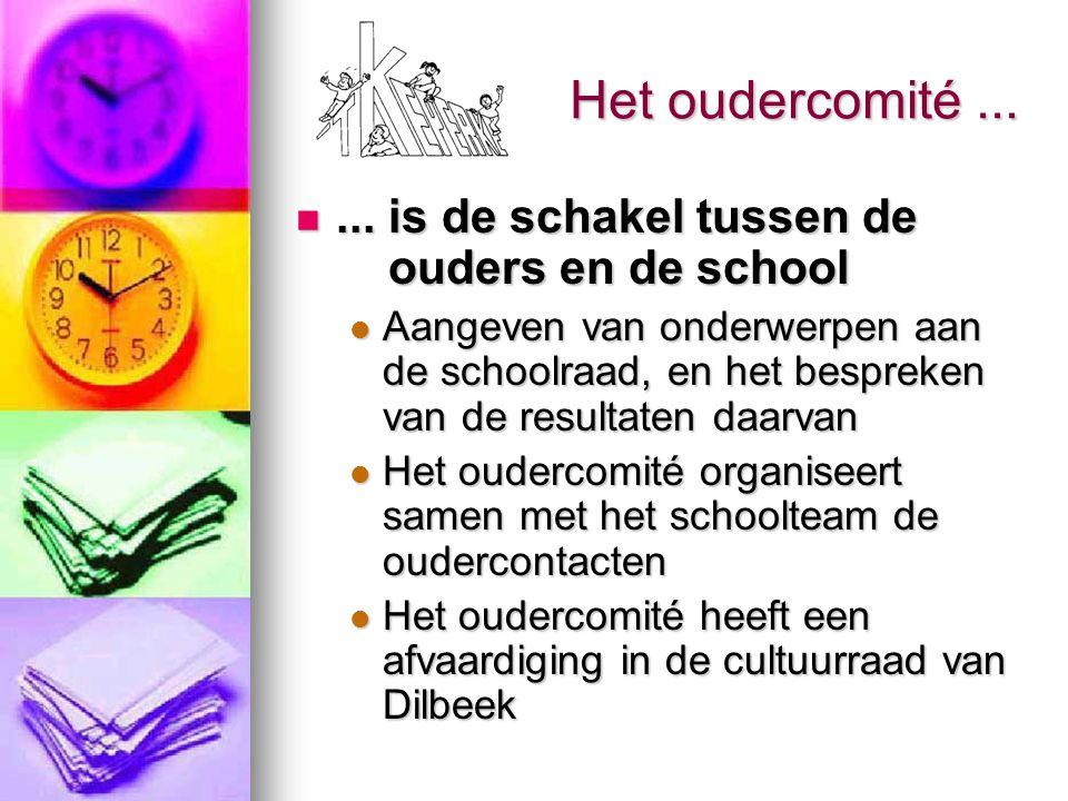Het oudercomité ... ... is de schakel tussen de ouders en de school