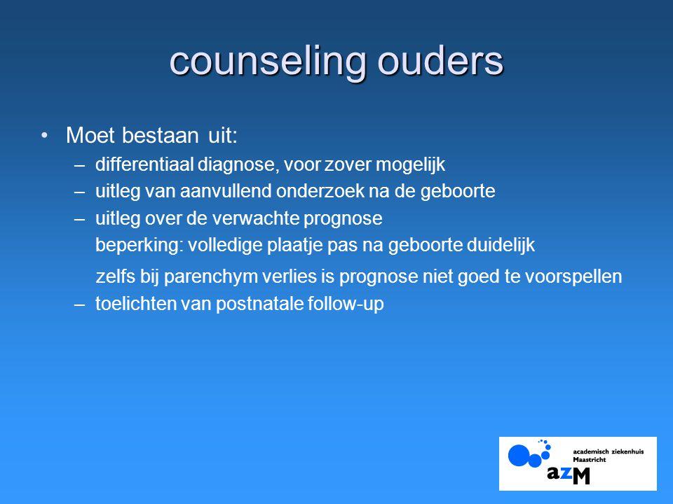 counseling ouders Moet bestaan uit: