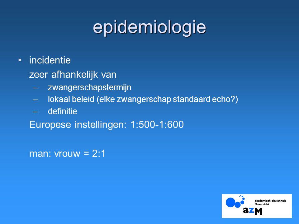 epidemiologie incidentie zeer afhankelijk van