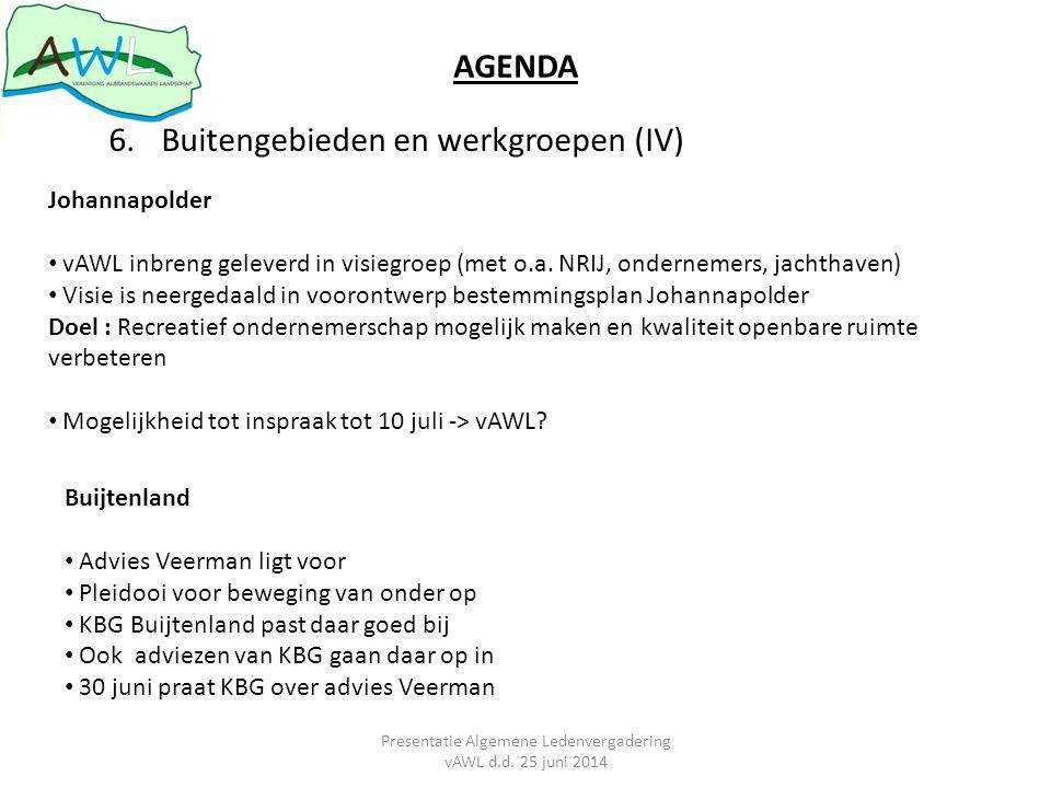 Presentatie Algemene Ledenvergadering vAWL d.d. 25 juni 2014