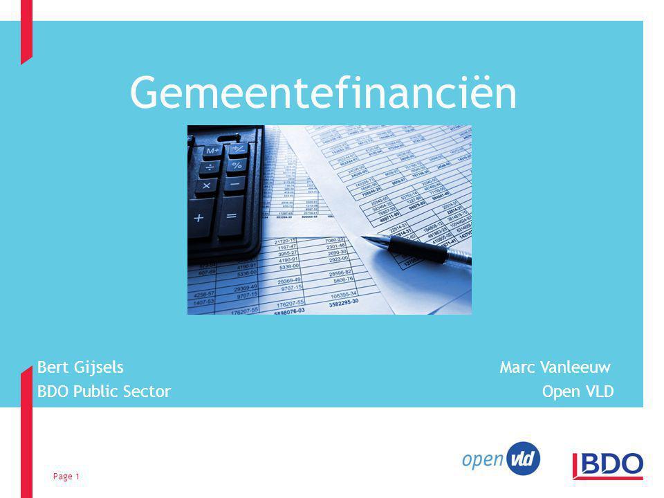 Bert Gijsels Marc Vanleeuw BDO Public Sector Open VLD