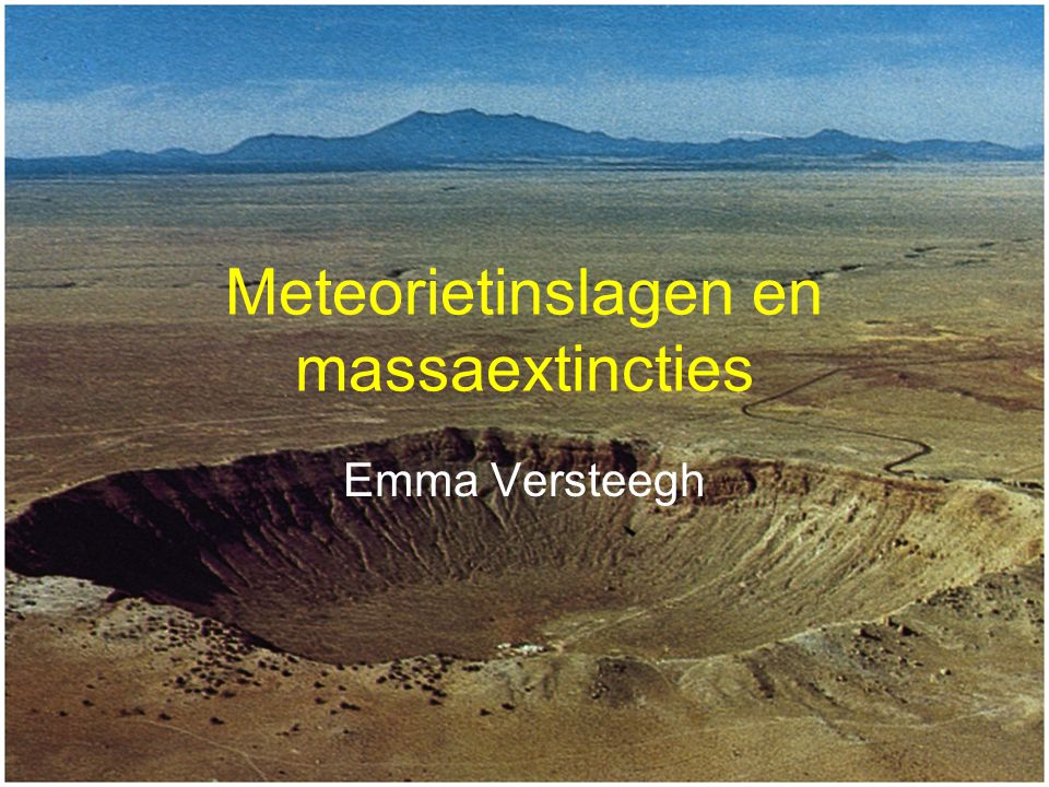 Meteorietinslagen en massaextincties