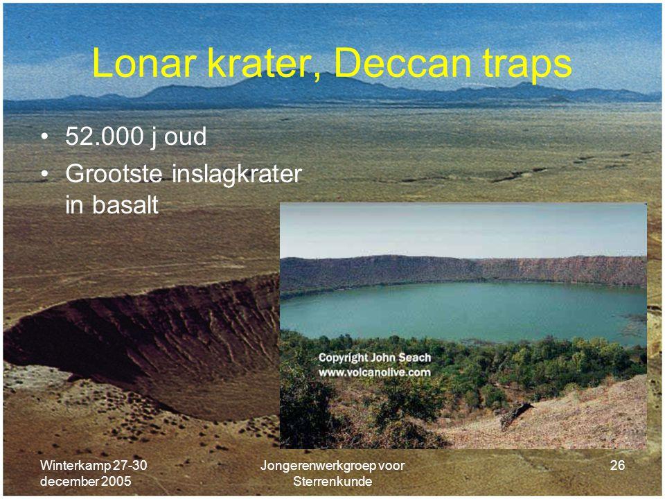 Lonar krater, Deccan traps