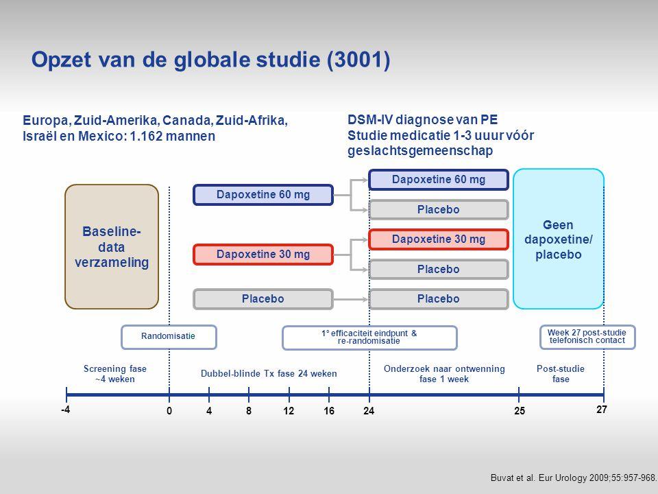 Opzet van de globale studie (3001)