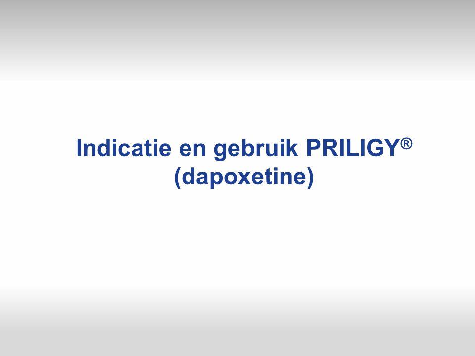Indicatie en gebruik PRILIGY® (dapoxetine)