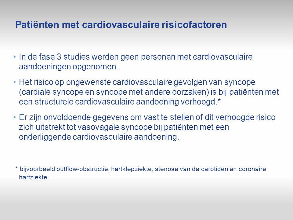Patiënten met cardiovasculaire risicofactoren