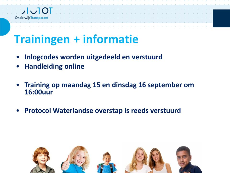 Trainingen + informatie