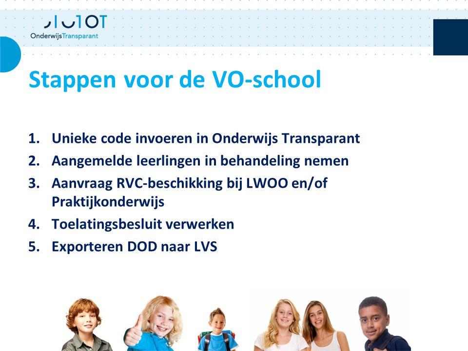 Stappen voor de VO-school