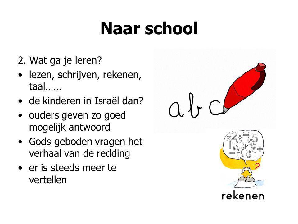 Naar school 2. Wat ga je leren lezen, schrijven, rekenen, taal……