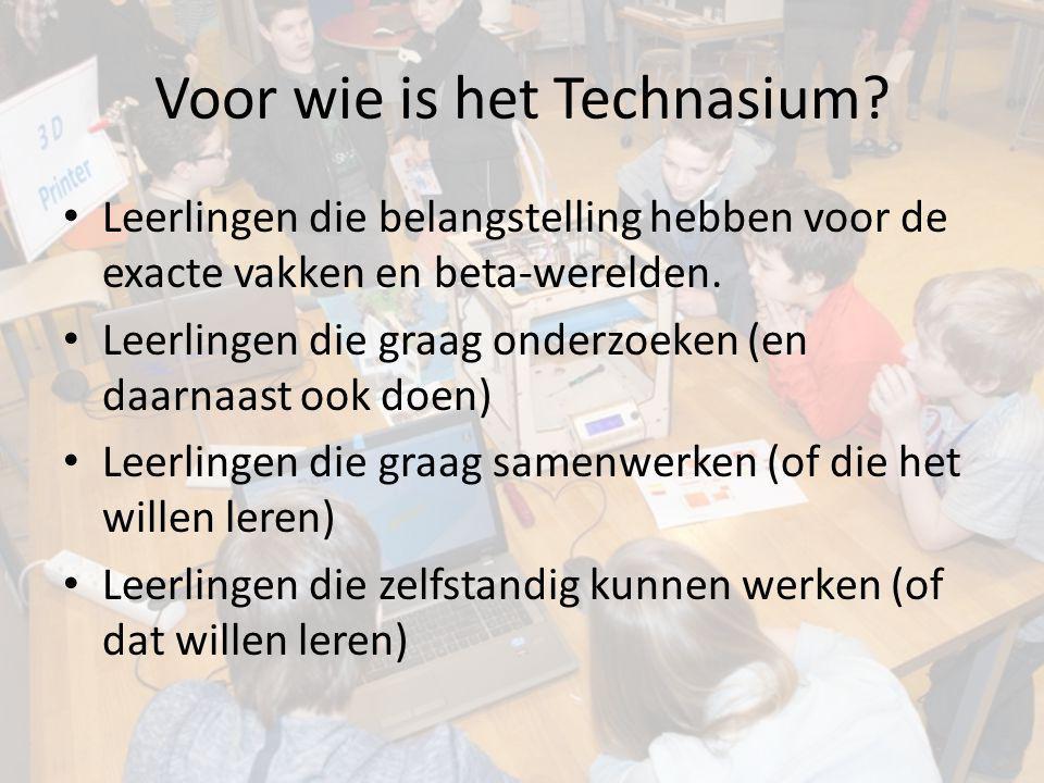 Voor wie is het Technasium