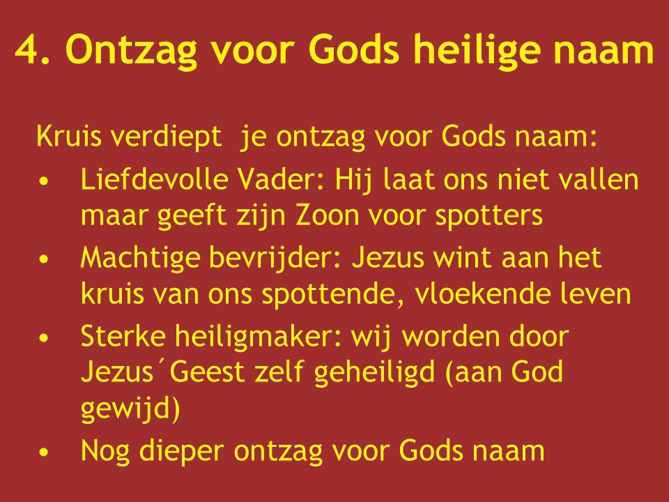 4. Ontzag voor Gods heilige naam