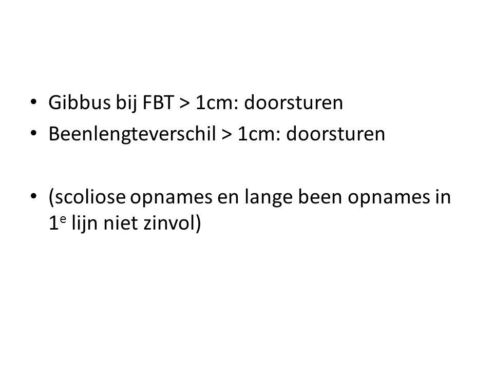 Gibbus bij FBT > 1cm: doorsturen
