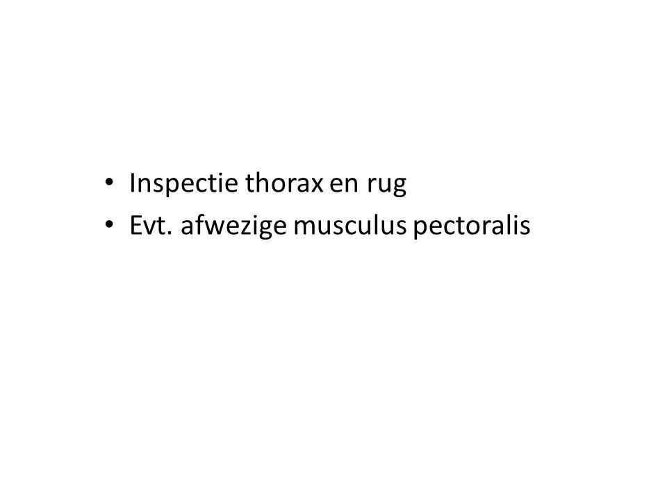 Inspectie thorax en rug