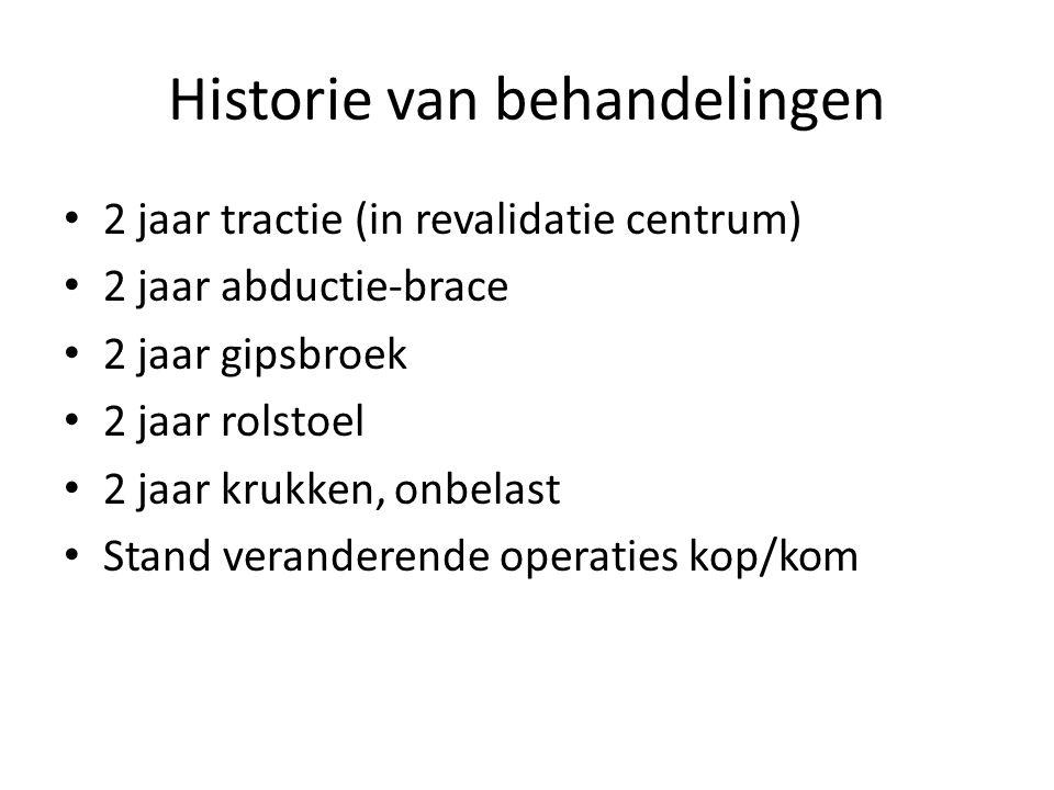 Historie van behandelingen
