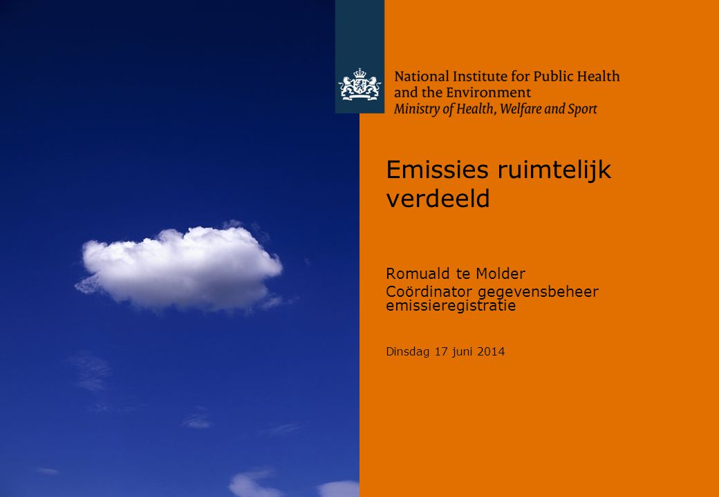 Emissies ruimtelijk verdeeld
