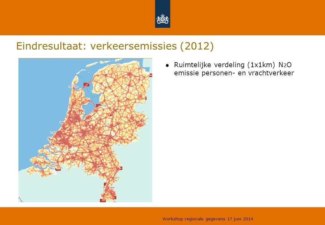 Eindresultaat: verkeersemissies (2012)