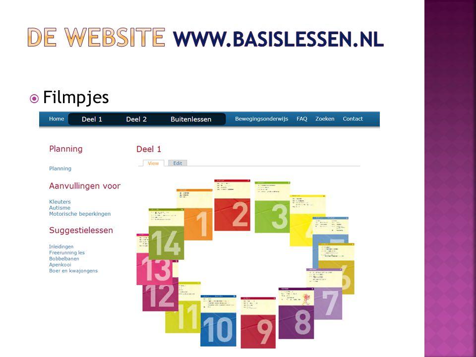 De website www.basislessen.nl