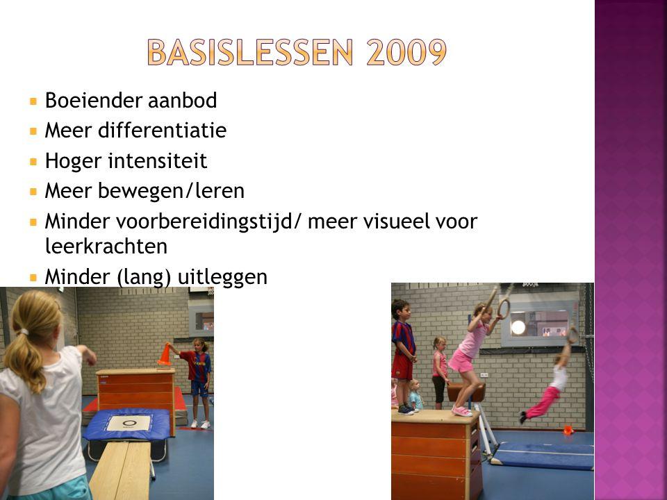 Basislessen 2009 Boeiender aanbod Meer differentiatie