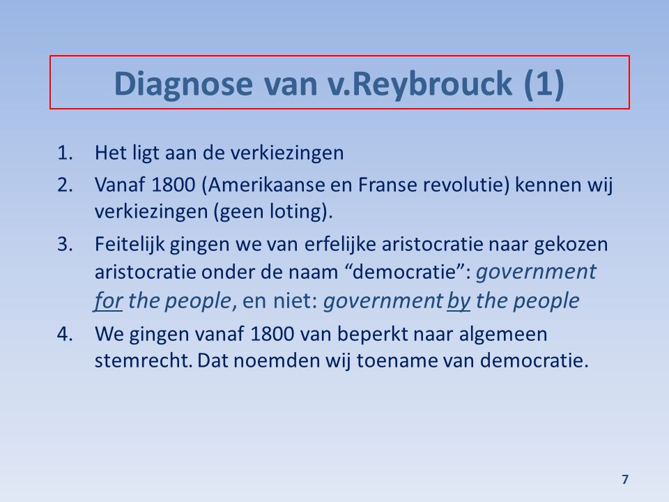 Diagnose van v.Reybrouck (1)