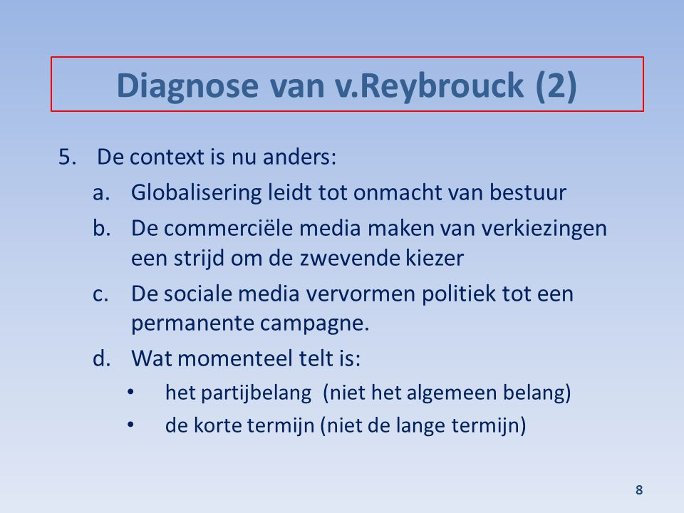 Diagnose van v.Reybrouck (2)