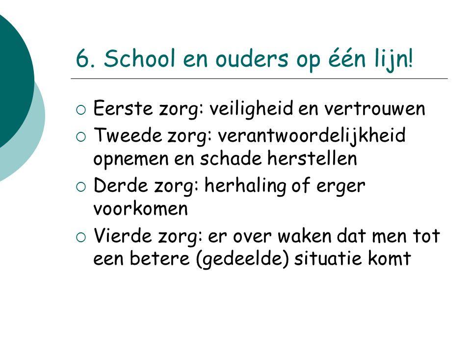 6. School en ouders op één lijn!