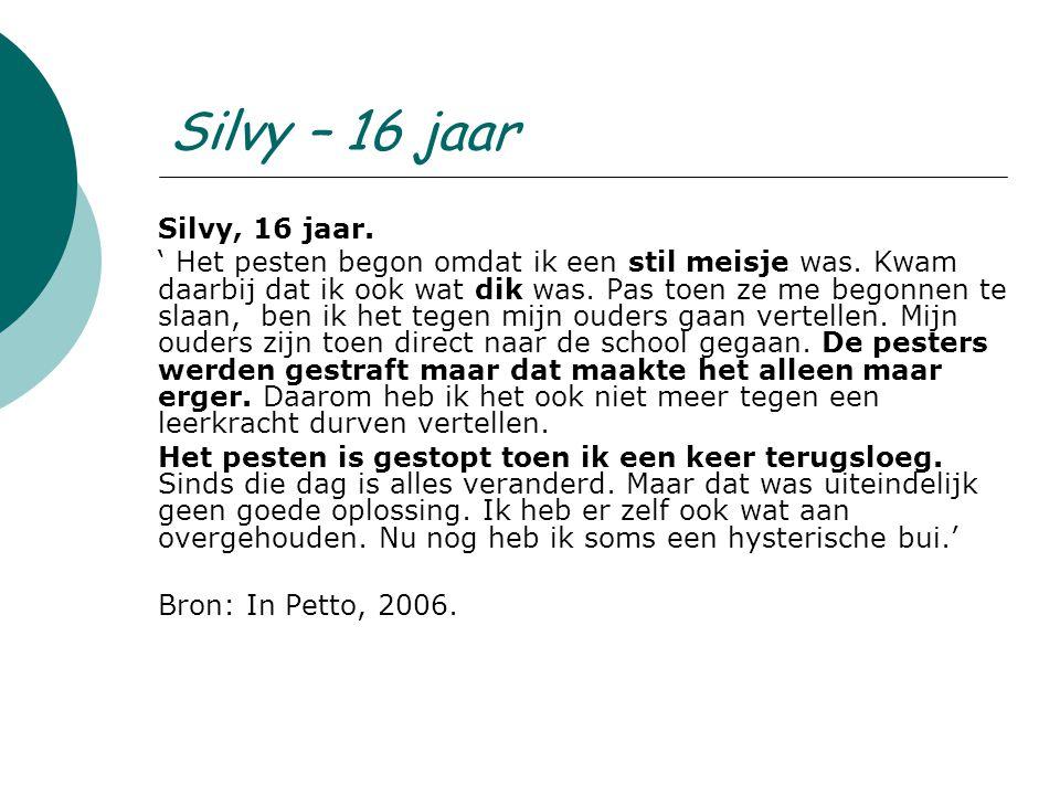Silvy – 16 jaar Silvy, 16 jaar.