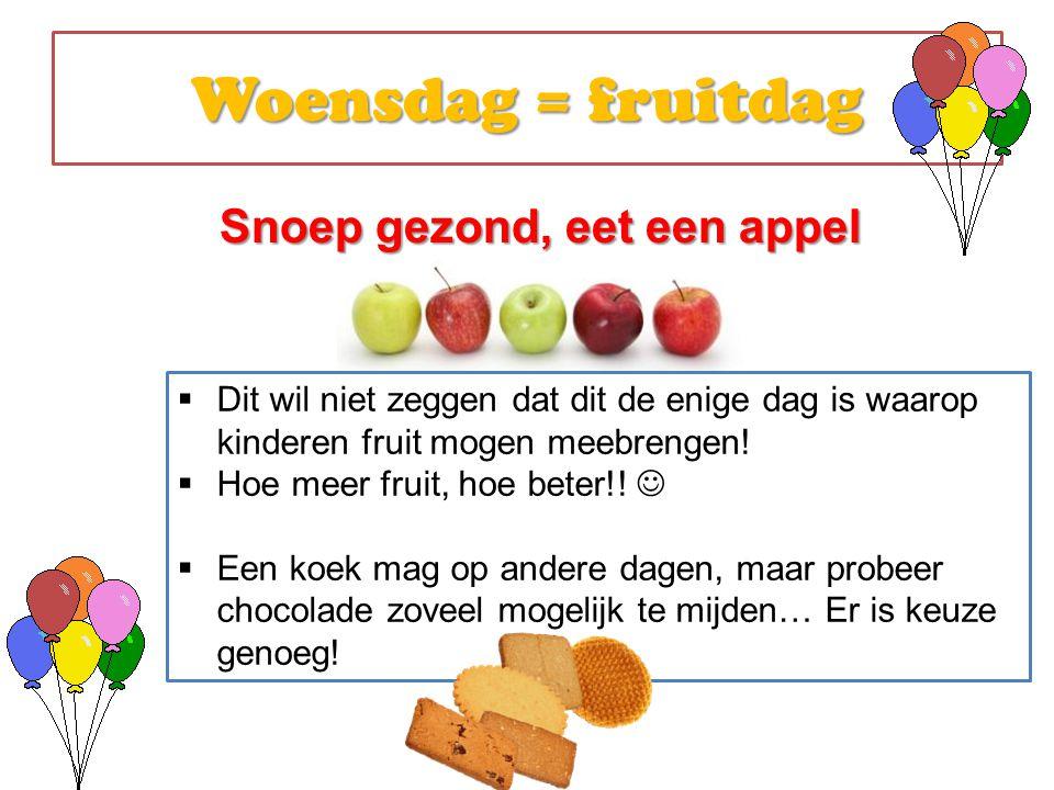 Snoep gezond, eet een appel