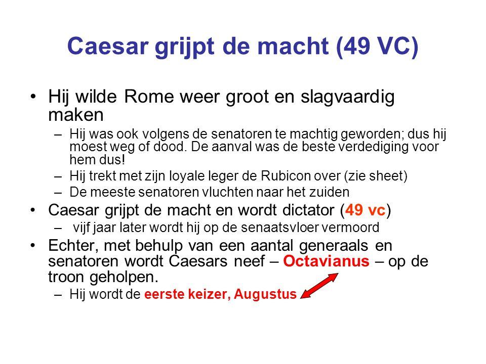 Caesar grijpt de macht (49 VC)